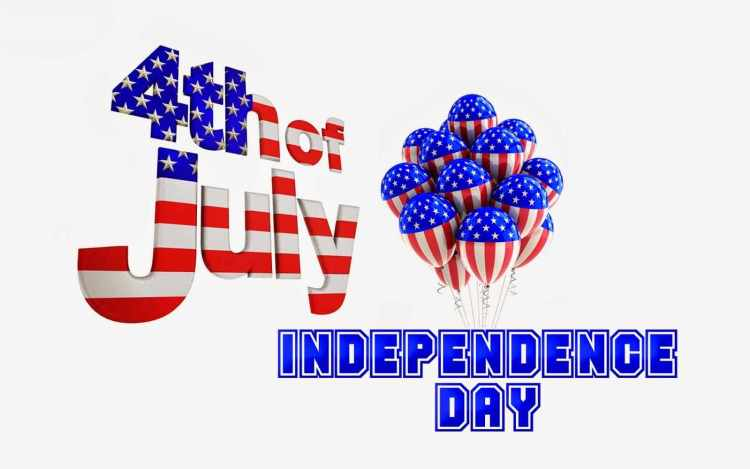 Wonderful 4th Of July Independence Day Greetings Balloon Card Image