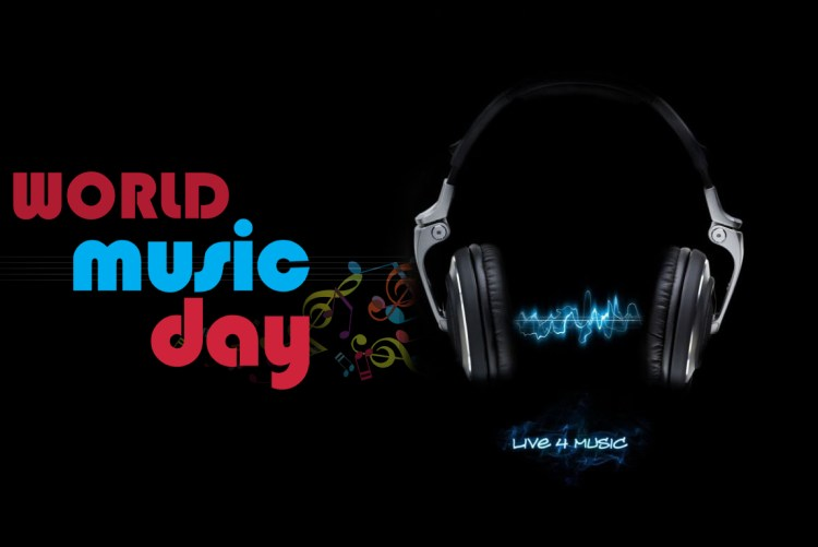 Happy Music Day Best Wishes Love Music Message Wallpaper