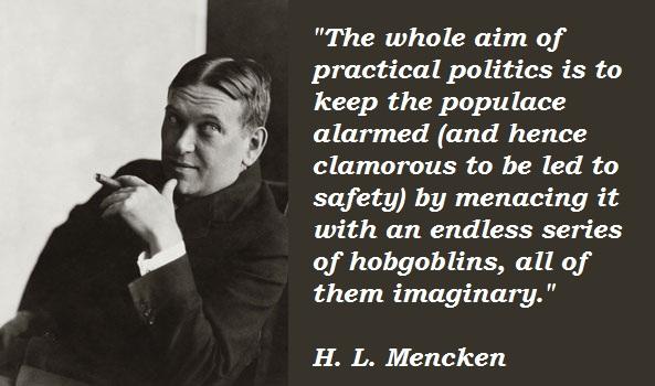 H L Mencken Quotes