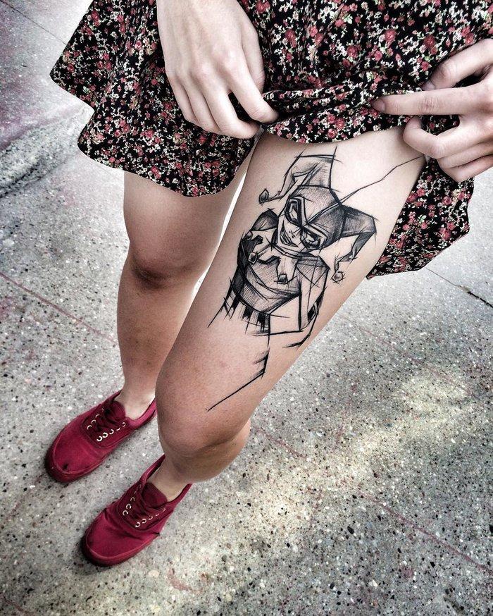 02 Blackwork Sketch Tattoos by Inez Janiak