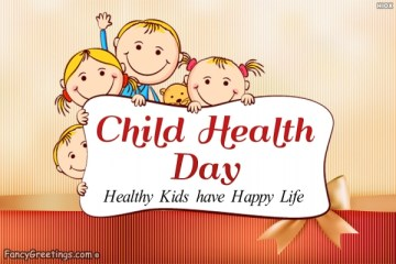 Best Child Health Day Wishes Message Graphics