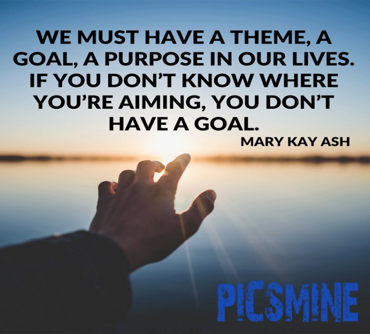 We must have a theme a goal a purpose Quotes Inspirational
