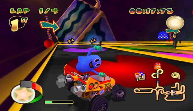 Pretend that this isn't some Rainbow Road derivative. I dare you.