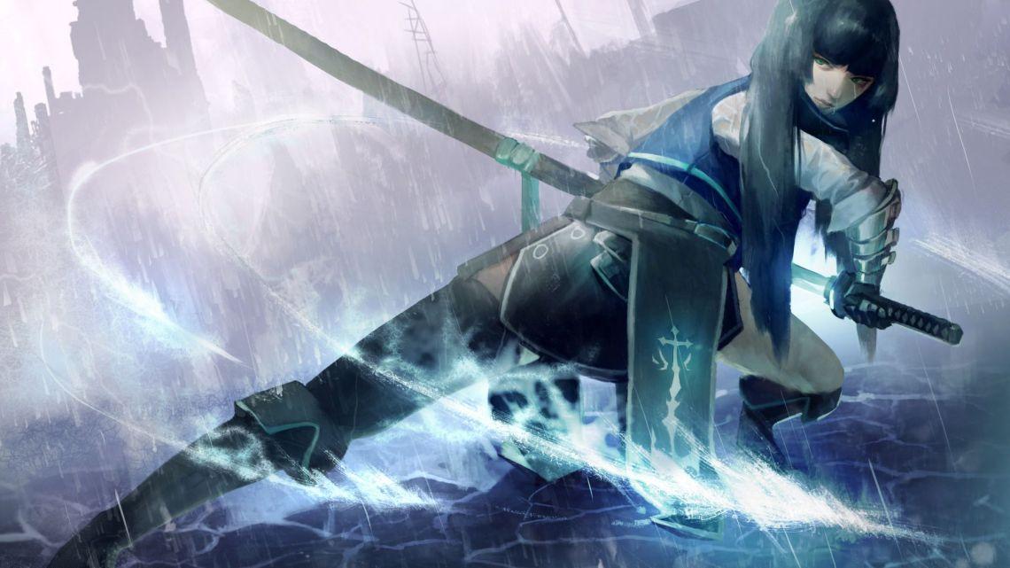 Desktop Wallpaper Samurai Anime Girl Art Sword Hd Image Picture Background 1129d9