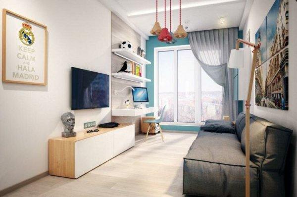 Комната для подростка мальчика 12 кв.м: фото, изображения ...