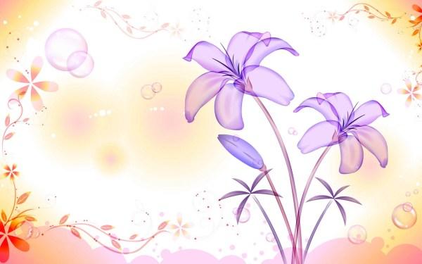 Картинка Фиолетовые цветочки - Картинки 3D-Графика ...