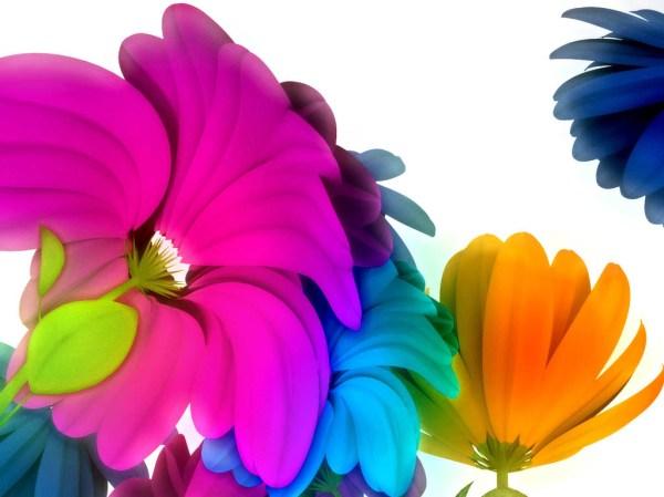 Картинка Яркие цветы в 3д - Картинки 3D-Графика ...
