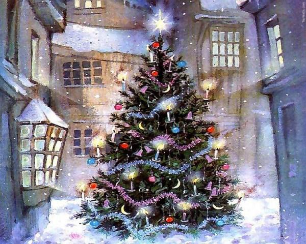 Картинка Новогодняя елка обои для рабочего стола ...
