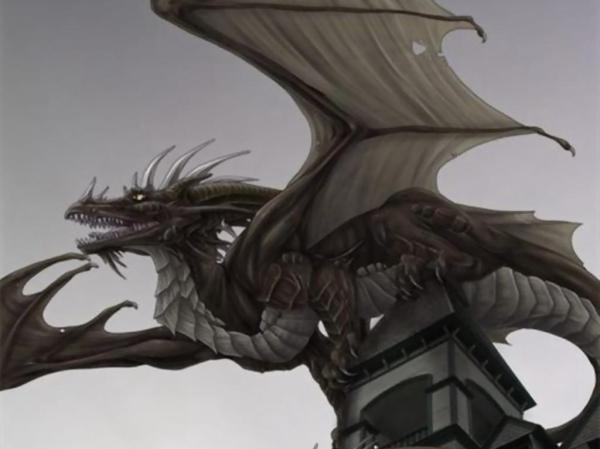 Картинка Дракон на крыше - Картинки Фэнтези - Бесплатные ...