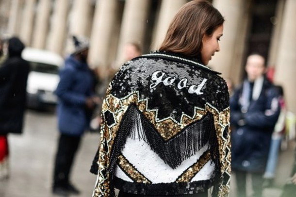 Image result for sequin blazer street style