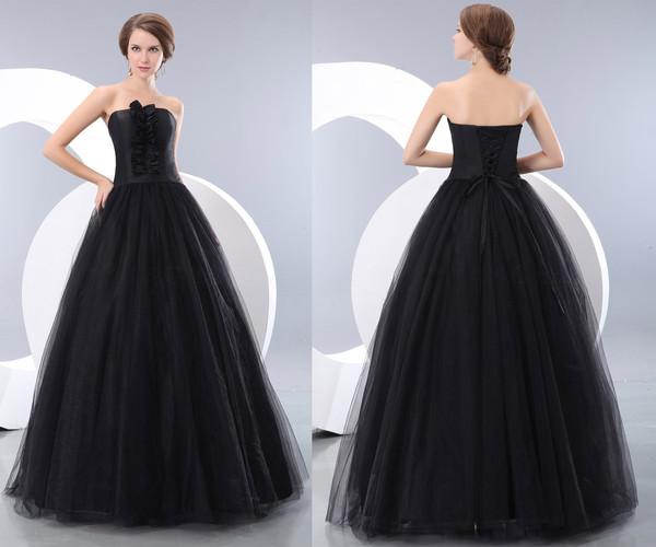 Retro Black Cinderella Lace Up Ball Gowns KSP202 [KSP202