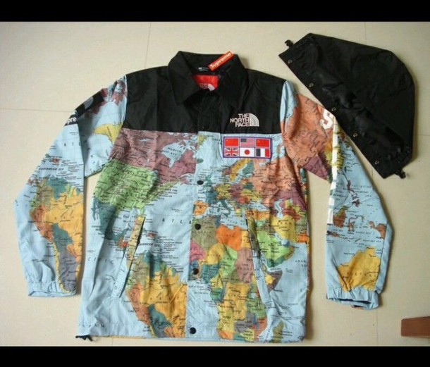 9015b17777 ... amazon supreme jackets coats north face world map jacket poshmark supreme  north face world map jacket ...