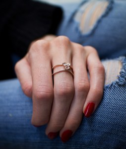 Awesome Gold Double Band Ring   Best Jewelry rose gold and diamond Double Band Moonstone ring     Luna Skye by