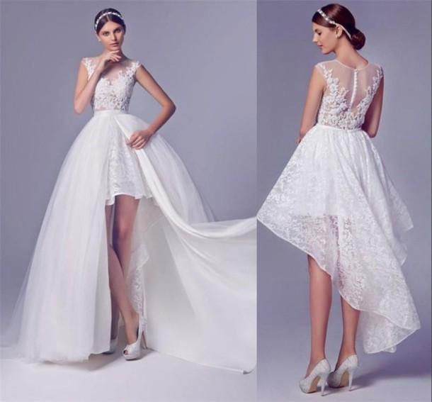 Image result for wedding dress detachable skirt