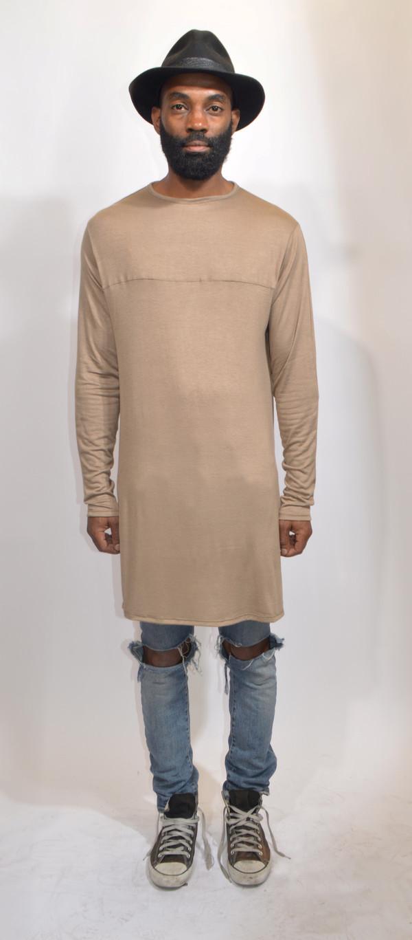 T Shirt Menswear Mens T Shirt Long Sleeves Neutral