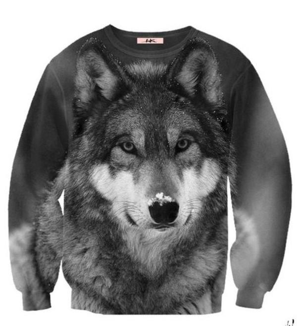 Sweater Aweatshirt Wolf Wheretoget