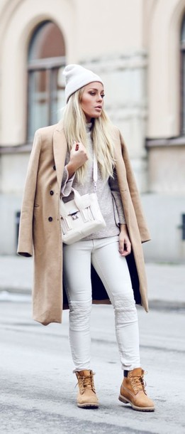 Coat White And Beige Outfit White And Beige Beige Coat