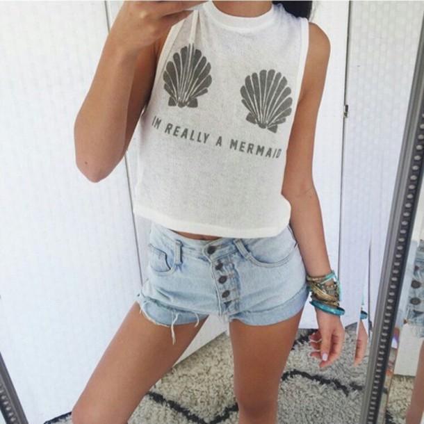 f5f831b87974 Tank Top Mermaid Shorts Jewels Perfect Comfy Summer
