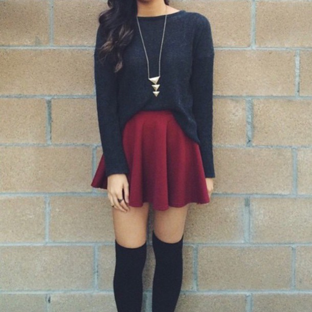Black And Picture Shorts And Shoes And Black Red Socks Red Shirt Red