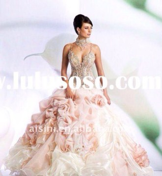 dress  prom  prom dress  blush dress  wedding  wedding ring  crystal     dress  prom  prom dress  blush dress  wedding  wedding ring  crystal   couture  couture dress  light pink  floral  gorgeous  beautiful  grand   queen