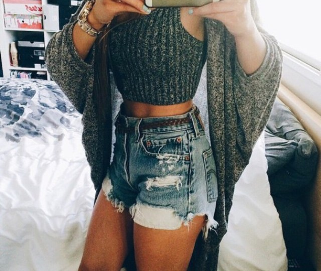 Shorts Denim Shorts High Waisted Shorts Summer Shorts Cardigan Style Fashion Spring Break Spring Summer Top