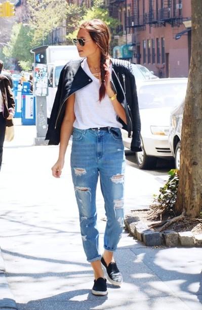 casual boyfriend jeans