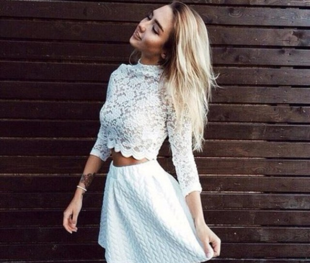 Top Skirt Cute Top Lace Dress Lace Top Tumblr Outfit Tumblr Top Www Ebonylace