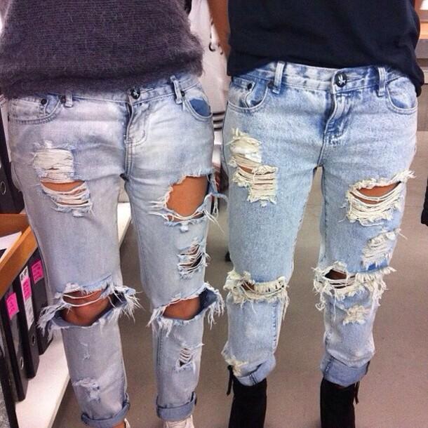 Image result for torn jeans