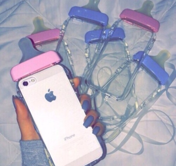 Phone cover: baby bottle, cry baby, cute, tumblr, iphone ...
