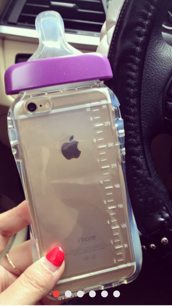 iPhone 6 4.7 in Purple Baby Milk Bottle case cover - free ...