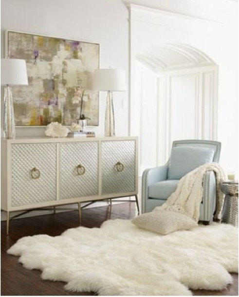bag: fluffy, fluffy rug, white, light blue, bedroom, popular