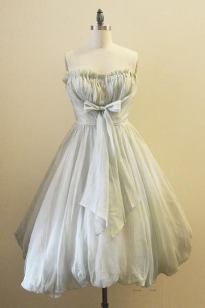 Vintage Dress 50s Style Prom Dress Party Dress