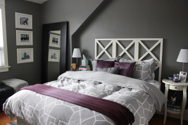 Home Accessory Grey Grey Light Grey Light Gray Bedding Bedding Bedroom Duvet Comforter Covers House Bedding Bedding Purple Home Decor Room Accessoires Geometric Wheretoget