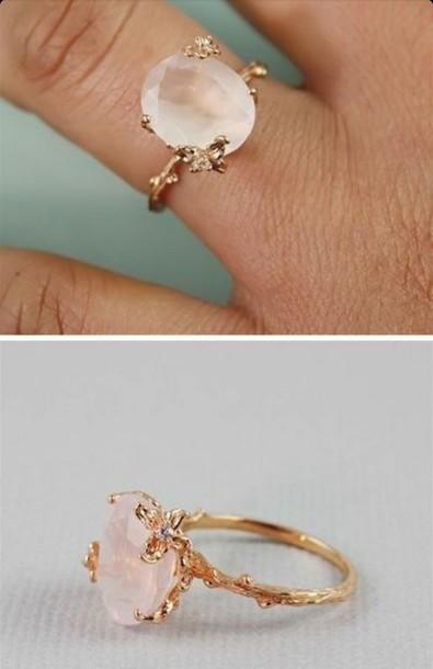 Jewels Wedding Ring Engagement Ring Ring Light Pink