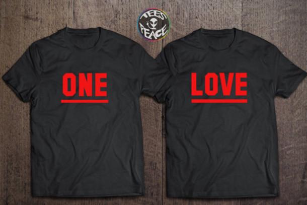 T Shirt Love Black Red Black T Shirt Lovely Chritmas