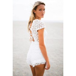 3331427030f White Romper With Flowers