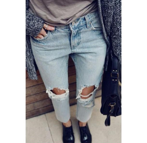 Jeans Boyfriend Jeans Boyfriendjeans Ripped Jeans