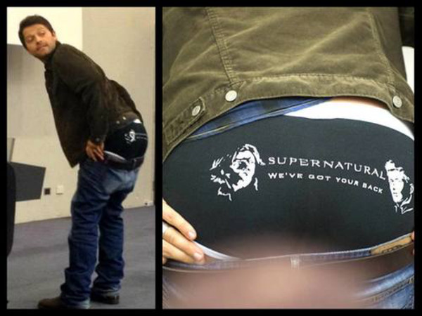 Underwear Supernatural Misha Collins Jared Padalecki