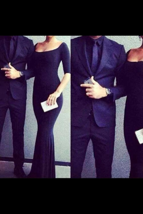 Dress Black Long Elegant Long Dress Classy Navy