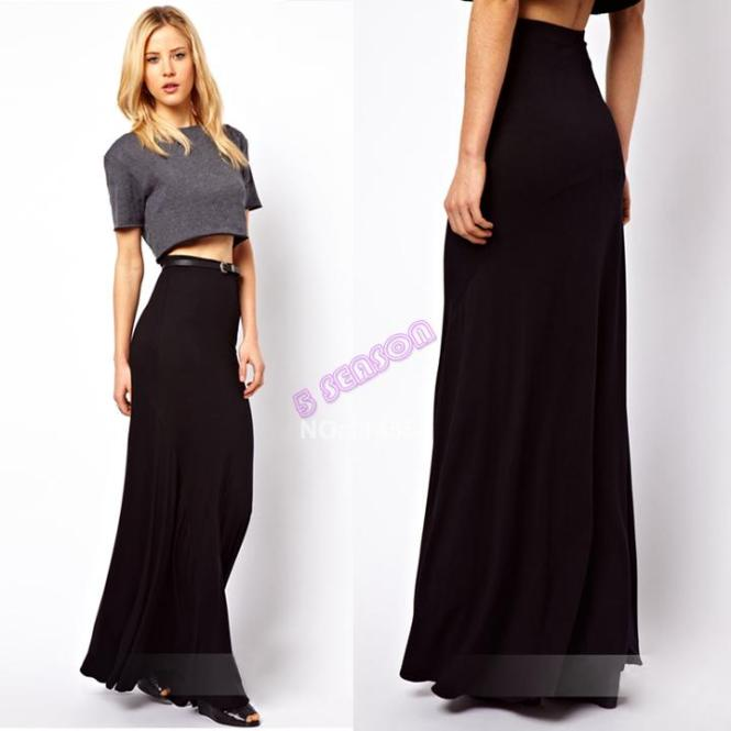 High Waisted Maxi Skirt - Skirts