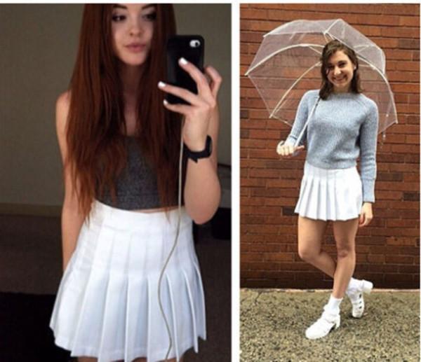Skirt Home Accessory Tennis Skirt Pleated Skirt White