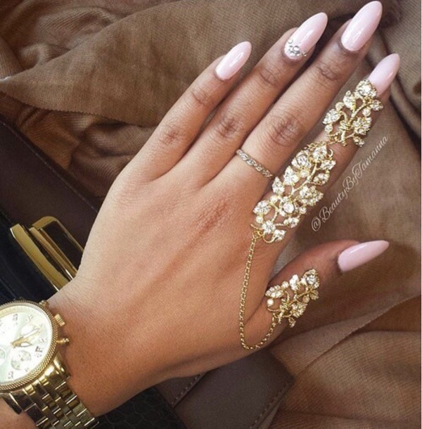 nail accessories  gold ring  ring  tumblr  gold mid finger rings     nail accessories  gold ring  ring  tumblr  gold mid finger rings  fashion   tumblr outfit  jewels   Wheretoget
