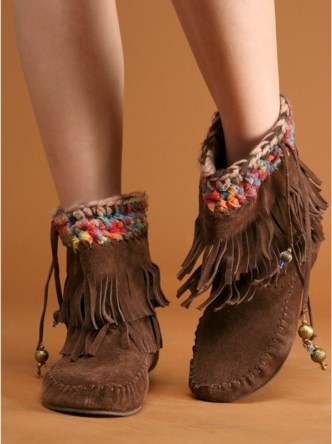 Shoes: moccasins, boho, fringes, pocahontas, lovely ...