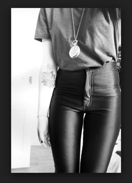 High Waisted Pants High Waisted Leather Short Leather