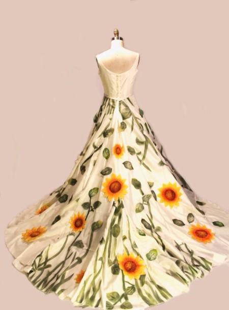 Dress Sunflower Wedding Dress Wheretoget