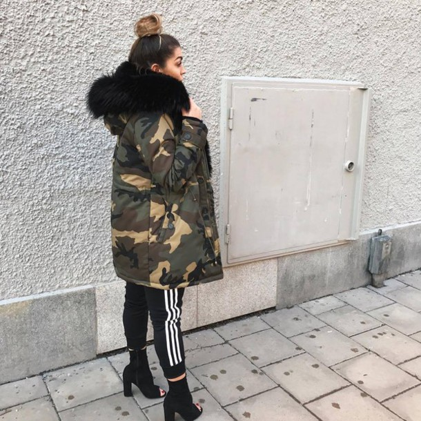 LUX by LuxBox Case nbzc12-l-610x610-coat-tumblr-camouflage-green+coat-pants-joggers-sports+pants-boots-ankle+boots-black+boots-peep+toe+heels-peep+toe+boots-sporty Comfortable on the Catwalk Style Tutorial