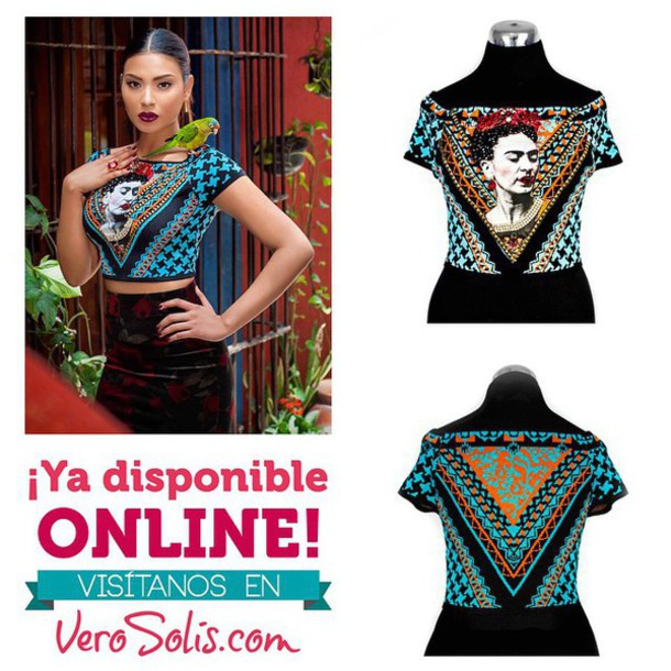 blouse mexican style mexican aztec fashion frida kahlo hippy shirt hippie chic
