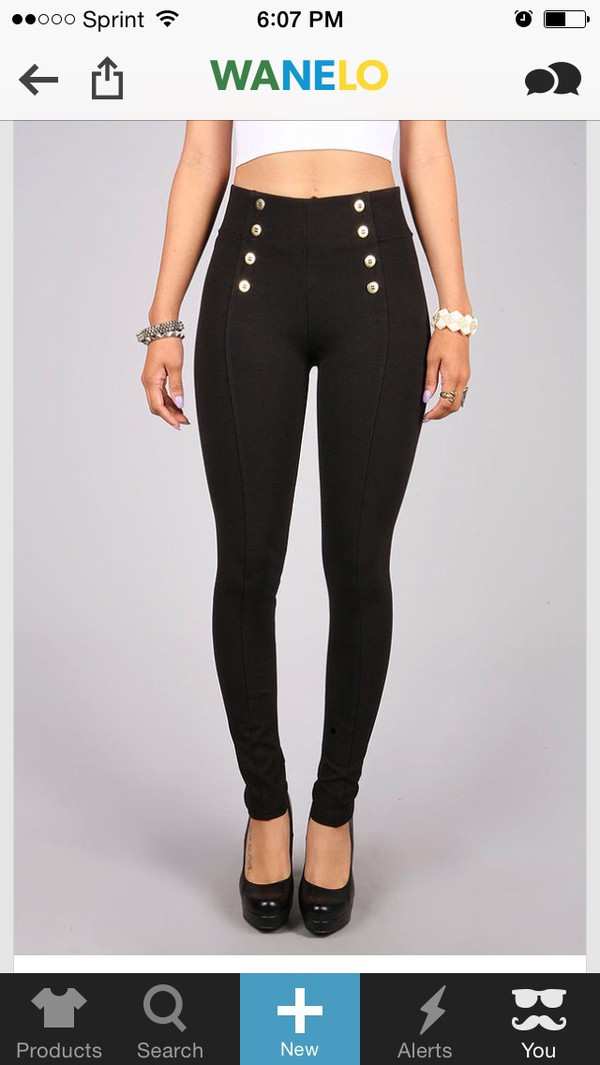 Pants Button Black High Waisted Jeans Cute Wheretoget