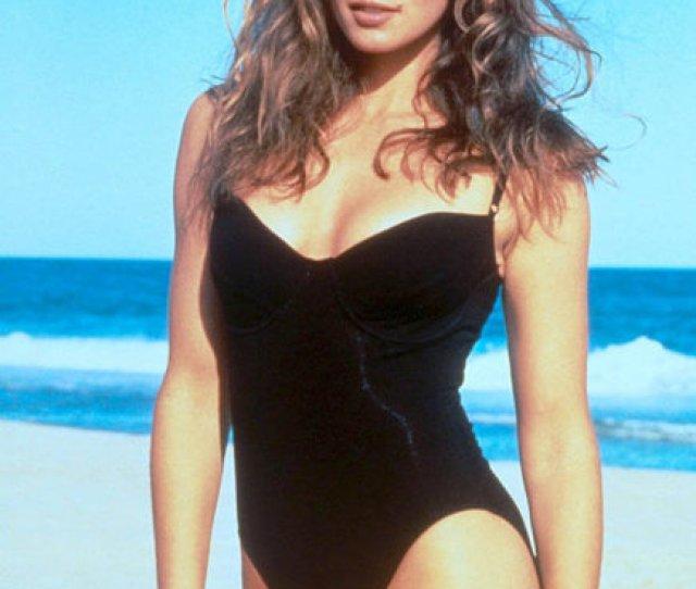 Swimwear Beach One Piece Swimsuit Black Cindy Crawford Summer Beach Wear
