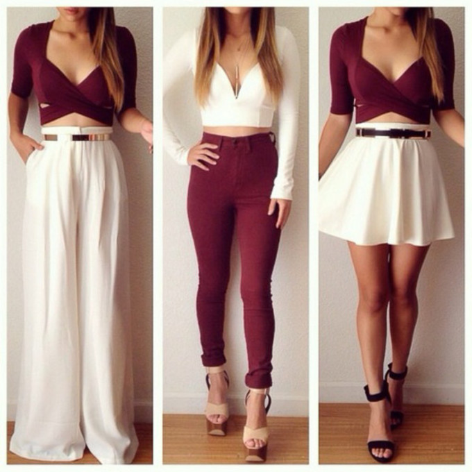 White high waisted cropped jeans